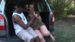 German mom and ebony cock