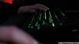 Familystrokes  Kenzie Madison Gobbling Gamer Cock