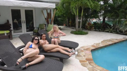 Bffs  Alessia Luna Nikki Sweets And Mina Moon Ass Scaping