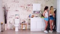 WebYoung Lily Larimar And Aliya Brynn Bathroom Battle Royale