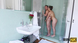 Rim4k E16 Jenifer Jane - Sensual rimjob in the shower is the best way to start a day