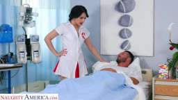 Nurse Valentina takes extra care of her patient