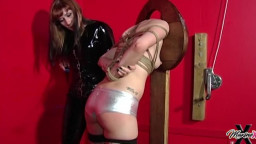 MaxineX Mistress Jezebel - Forced To Cum Standing In Bondage