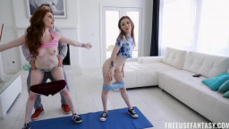 FreeuseFantasy Madi Collins And Aria Carson - Free Weights Training