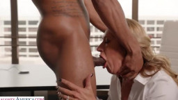 Naughty Office - Sloan Rider gets dicked down by employee's big black cock