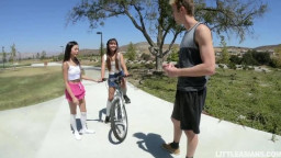 Littleasians - vina sky and elle voneva tiny asian teens learn to share