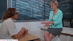 My First Sex Teacher - Professor Dee Williams helps are student focus... on her huge tits and wet pussy