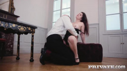 private lucia love busty brunette loves anal