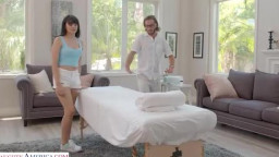 MySistersHotFriend - Leda Lotharia receives a massage but ends up GIVING a happy-ending!!