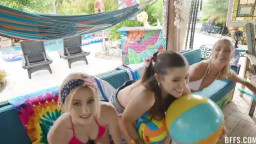 BFFS Payton Avery Isabel Moon And Alicia Williams - Memorable Pool Party
