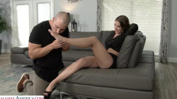 NeighborAffair - Kendra Heart twists her ankle and the only way to relieve the pain is a good hard orgasm
