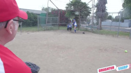 Daughterswap Taylor Blake And April Snow - Softball Diamond Dick Down