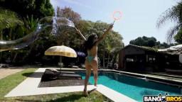 BANGBROS Gina Valentina - Giant Dick For Tiny Girl