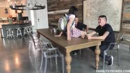 Familystrokes Leda Lothario Twin Stepbrothers Cum On Ledas Face