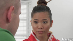 Family Vina Sky Asian Stepsister Knows Exactly What He Needs