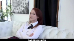 DadCrush - Horny Redhead Teen Pops Pussy for Stepdad