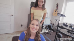 Tiny Latin Teen Step Sister and her BFF Swap Step Brother's Creampie