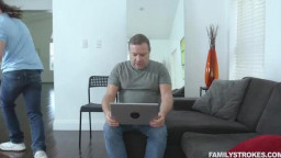 FamilyStrokes - Kelsey Kage - Fucking Behind Dads Back