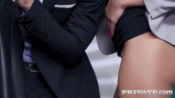 Private Cindy Shine And Mina Anal Threesome At The Office