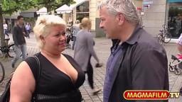 Strassenflirts: Hellblond und voll fett